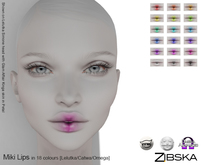 Zibska [50L Closeout] ~ Miki Lips in 18 colors with Lelutka, Catwa and Omega appliers