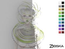 Zibska [50L Closeout] ~ Miki Set Color Change Collar and Headpiece