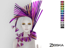 Zibska [50L Closeout] ~ Trista Color Change Collar and Headpiece