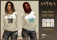 ":: ANTAYA :: Mesh long sleeve ""NEW YORK"" 6 colors / Maitreya / Original mesh"