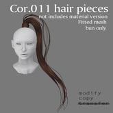 *booN Cor.011 hair pieces black pack