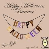Little Llama - Happy Halloween Banner