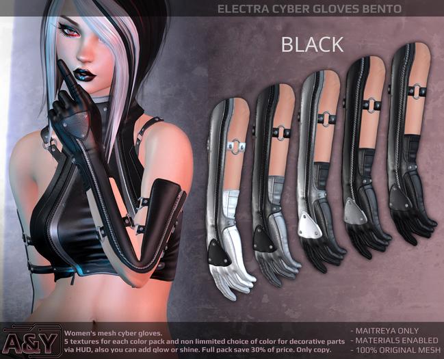 A&Y Electra Cyber Gloves - Black