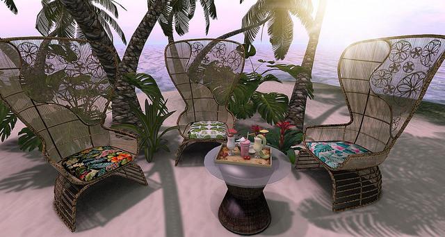 <Aphrodite>Aphrodite Rattan Chair  & Table Set