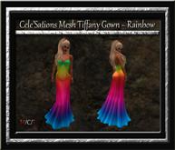 Cele'Sations Mesh Tiffany Gown ~ Rainbow Pk
