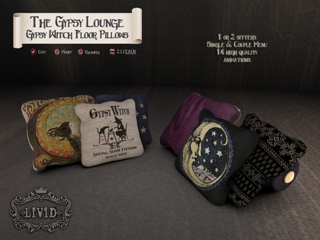 LiViD : Gypsy Witch Floor Pillows
