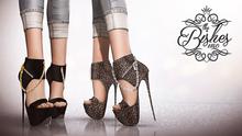 Bishes Inc Enchained Shoes Maitreya Belleza Slink Multi Color Hud Fitmesh Heels