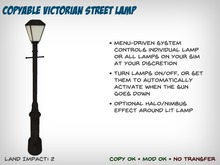 Copyable Victorian Streetlamp with Auto-On/Off