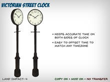 Victorian Street Clock with Time Zone Adjustment