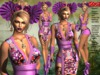**KAREN LILAC VERSION KIMONO COSTUME STYLE COMPLET OUTFIT **