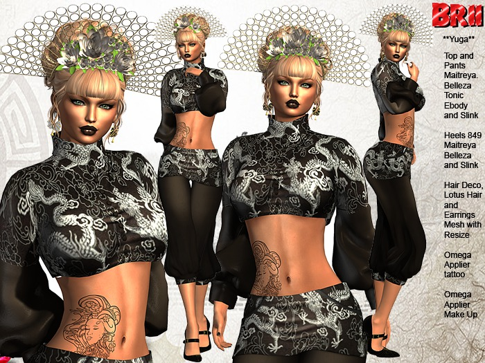 ** YUGA BLACK VERSION ASIAN STYLE COMPLET OUTFIT **