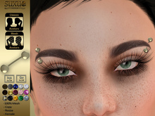 [SuXue Mesh] FATBACK Lita UnRigged Eyebrow Piercings Hud 15 Textures included Resize For Female No Rigged