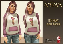 :: ANTAYA :: ISE BABE mesh hoodie / Maitreya, Slink Physique / Original mesh