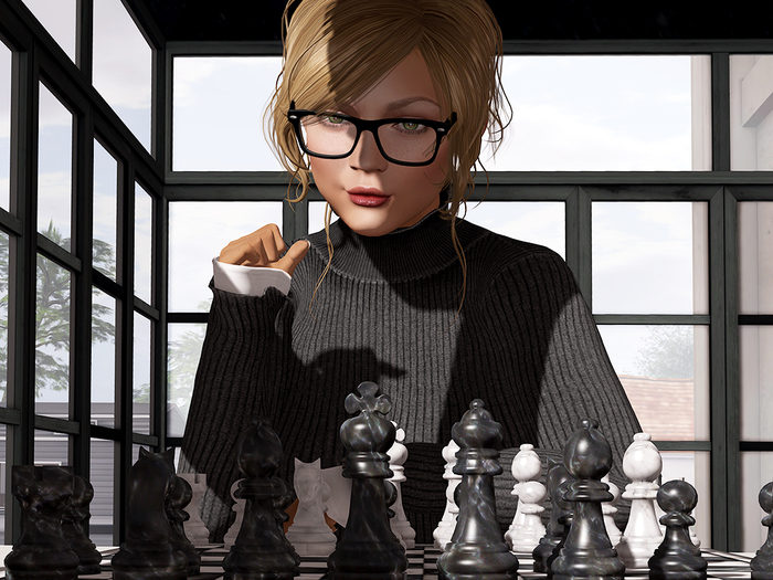 Dutchie animated playable mesh chess set with Bento hand animations for floor and table top