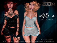 zOOm - Mona Outfit - Black and White Version included!!