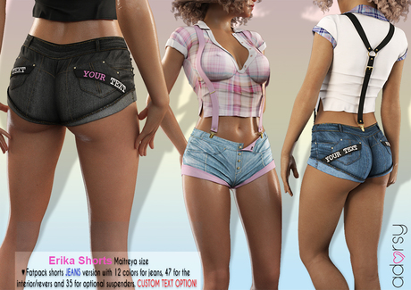 adorsy - Erika Jeans Shorts Fatpack - Maitreya