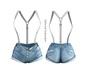 adorsy - Erika Jeans Shorts Splash - Maitreya
