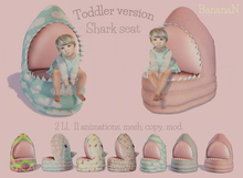 Shark seat Toddler version - 7 textures