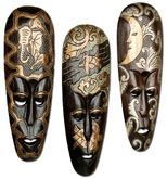 Wall Decor - African Mask Trio