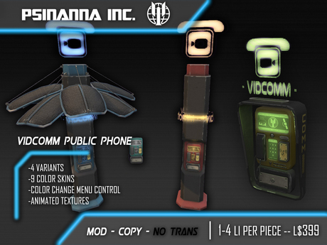 PsiNanna, Inc. VidComm Public Phone