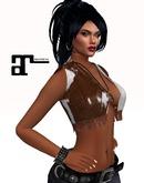 XK Maitreya Leather Fringe Vest Cowhide