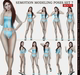 SEmotion Female Bento Modeling poses Set 7 - 10 static poses