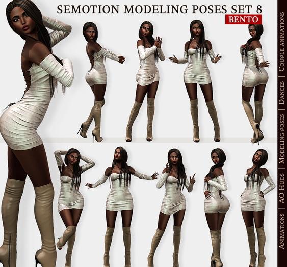 SEmotion Female Bento Modeling poses Set 8 - 10 static poses
