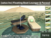 [satus Inc] Floating Boat Lounger & Parasol