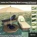 satus inc  floating boat lounger   parasol ad