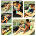 satus inc  floating boat lounger   parasol sample coupe pg poses