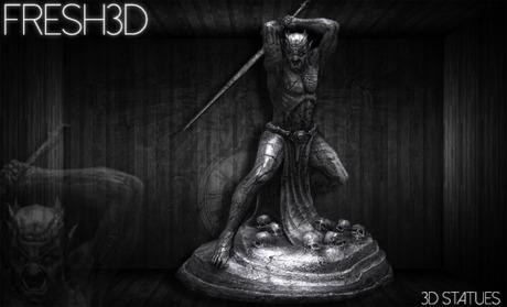Fresh3D Demon Warrior STATUE