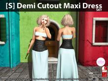[S] Demi Cutout Maxi Dress Sky