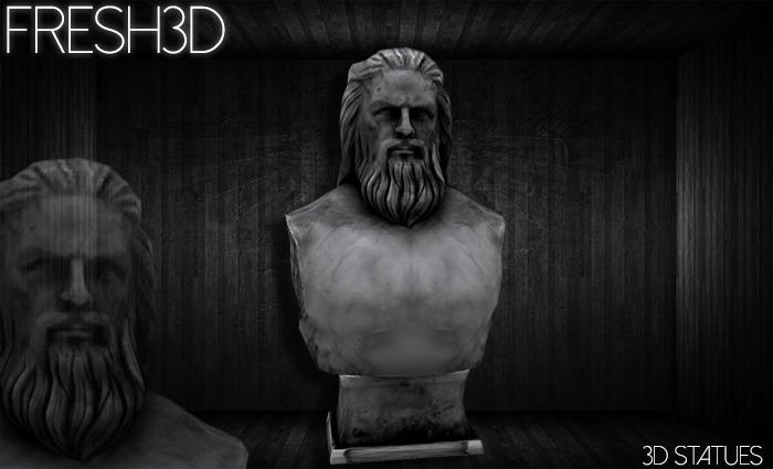Fresh3D Man Head STATUE