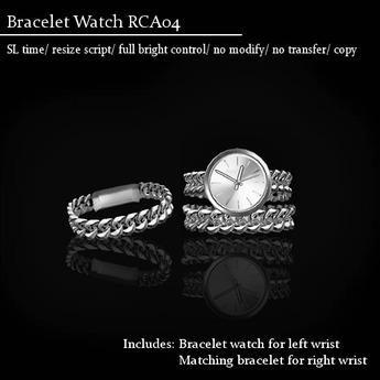 Watch Bracelet RCA04 Platinum -RYCA-