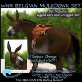 WH Riding Horse BELGIAN Muledonk Set