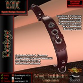 KDC Vermilion thigh cuffs