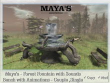 Maya's - Forest Fountain with Sounds Bench with Animations
