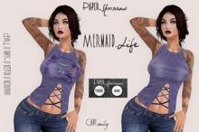 Paper.Sparrow Vintage Mermaid Life Tee - Purple