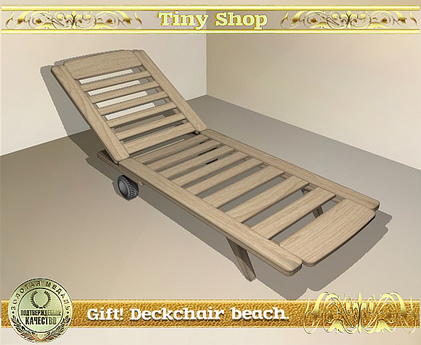 Gift! Deckchair beach, 100% mesh (full perm).