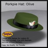 ::BASHY:: Porkpie Hat Dark Olive (WEAR TO UNPACK)