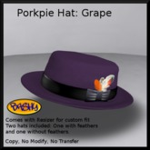 [BASHY] Porkpie Hat Grape (WEAR TO UNPACK)