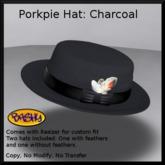 ::BASHY:: Porkpie Hat: Charcoal