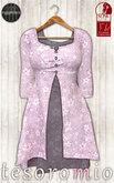 *tesoromio* flower sweater pink