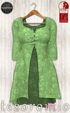 *tesoromio* flower sweater green