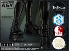A&Y Deuz Boots Metallic (Male) - Black