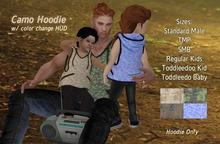 EYE for an EYE - Camo Hoodie - Toddleedoo & Adults