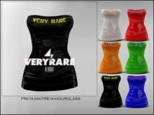 "#VERYRARE ""RARE"" PLASTIC, DRESS [BLACK]"