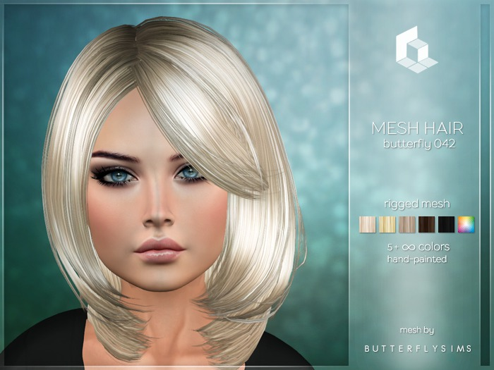 rezology Butterfly 042 (Bento RIGGED mesh hair) BF - 557 complexity