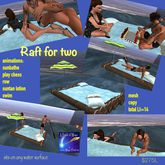 Animated water raft for 2-crate