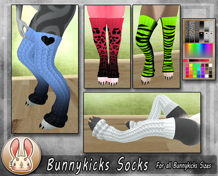 [TJR] BUNNYKICKS SOCKS (Kemono)